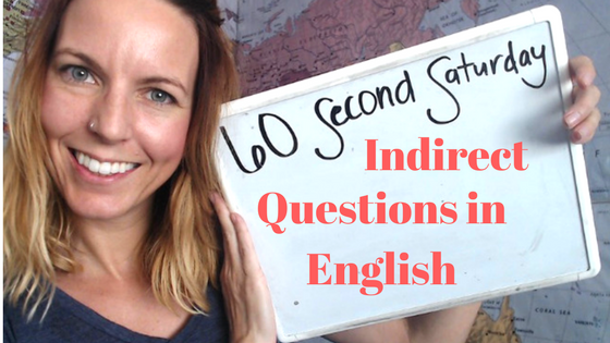 indirect questions in English